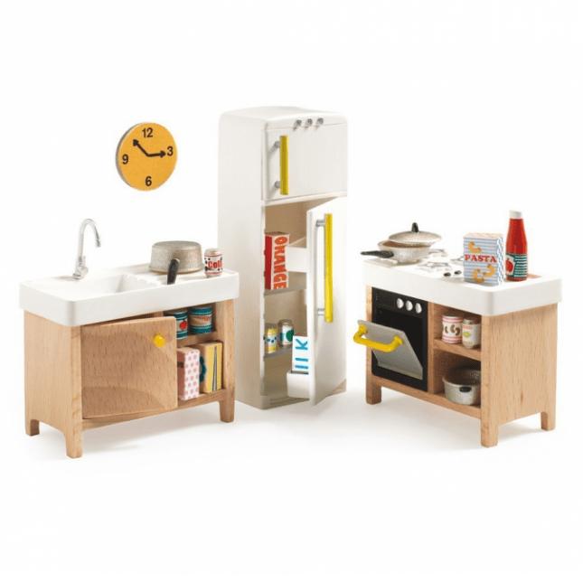 Cocina para casa de muñecas de Djeco